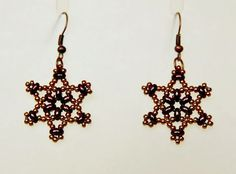 Free pattern for earrings Twin Stars