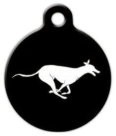 Running Greyhound Dog ID Tag
