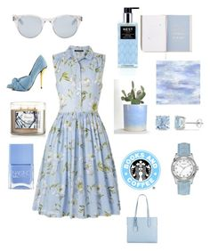 """""""Blue baby"""" by projectalice5 on Polyvore featuring French Connection, Sun Buddies, Privileged, Nails Inc., Nest Fragrances, Designers Guild, Ice, GUESS and Aimee Kestenberg"""