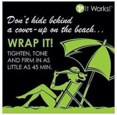 Tighten, tone, firm and feel great. Spa treatments for less than the cost of a cup of coffee per day.  Host a wrap party in June for you and four paying guests and you not wrap free, but are entered into a raffle for a 200$ gift card.  susanroehm@hotmail.com