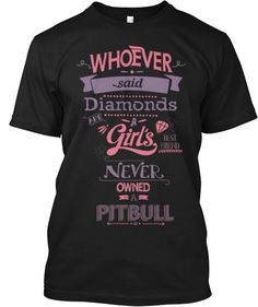 Awesome Shirt For Girlie Pitbull Lovers! #pitbull #dogs #americanbullies