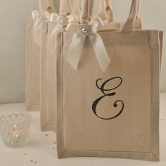 Rustic Ivory and Pearl Bridesmaid Initial Gift by HanmadeDesignsUK