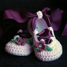 Adorable pattern for Baby Ballerina Slippers