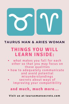 In my career as a relationship astrologer, I have consulted many clients with this special combination and have helped them find a way to align their stars and make it work after all. Today I'm finally ready to give you this brand-new and one of a kind special report about Taurus man and Aries woman. #zodiac #horoscope #sign #love #relationship #compatibility #dating #taurus #aries #man #woman #match #dating_taurus #dating_aries #understand #seduce_taurus #attract #keep #tips #guide #in_love
