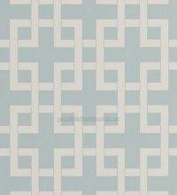 Papel pintado geométrico ornamental blanco fondo celestes - 1060356