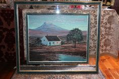 Buy Pierre de Villiers Framed Oil on Board - Mountain View for R2,500.00
