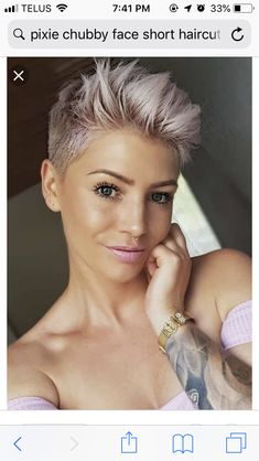 How to style the Pixie cut? Despite what we think of short cuts , it is possible to play with his hair and to style his Pixie cut as he pleases. Pixie Haircut For Round Faces, Round Face Haircuts, Short Pixie Haircuts, Short Hairstyles For Women, Hairstyles Haircuts, Shaved Hairstyles, Natural Hairstyles, Cheveux Courts Funky, Pelo Pixie