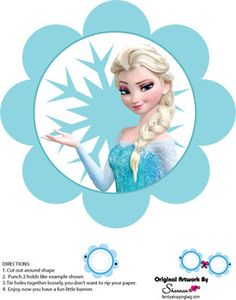 Banner, Frozen, Party Decorations - Free Printable Ideas from Family Shoppingbag.com