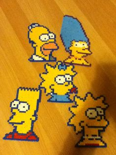 The Simpsons hama beads by Sam Riley