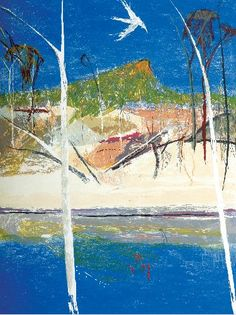 Arthur Boyd Pulpit Rock Landscape 1994 Collagraph, edition 66 of 70 80 x Painter Artist, Landscape Paintings, Arthur Boyd, Australian Art, Australian Painting, Landscape Art, Australian Painters, Water Painting, Love Art
