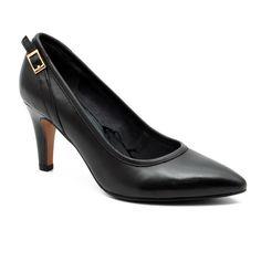 Divatos fekete, bőr, S.Oliver, Női cipő, magassarkú cipő, a Cipőplázán. Ha nem…