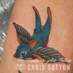 #swallow #bird #newschool #colour #tattoo #tattoos #custom #design #art #artist #tattooartist #illustration #london #england #chrissutton
