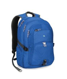 """High Sierra 2502-Cubic Inches Caldwell Daypack (Pacific) by High Sierra. Save 69 Off!. $37.49. Adjustable side compression straps secure heavy loads. Deluxe back panel with VAPEL? mesh AIRFFLOW? padding keeps air circulating and your back dry. Attach extra gear with the convenient triangle clip.; Large, multi-compartment design. Fits most 17"""" screen size) notebook computers (max. size: 16"""" x 11"""" x 1.8"""") Premium organizer with zippered mesh pocket, lidded media pocket, pen p..."""