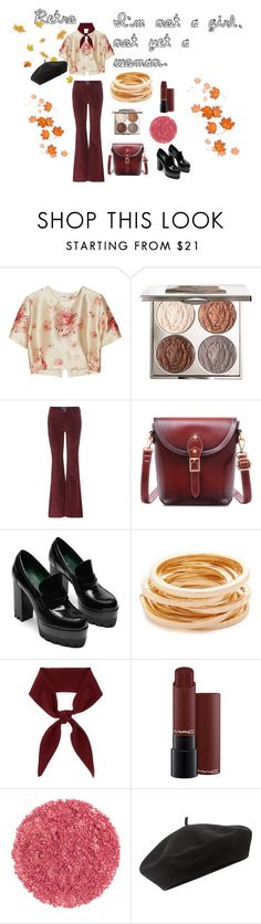 Recall by zinniath on Polyvore featuring Vilshenko, M.i.h Jeans, Kenneth Jay Lane, Chloé, Accessorize, Chantecaille, velvet, retro and 70