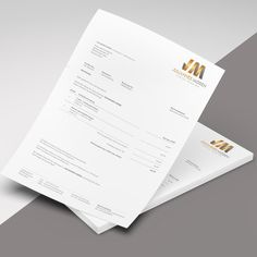 moden picked a winning design in their stationery contest. For just they received 107 designs from 5 designers.