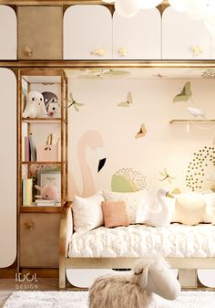 Interior details of the children's room for the girl from our project Krestovskiy de luxe is part of Kids bedroom - Kids Bedroom Furniture, Bedroom Decor, Bedding Decor, Rustic Furniture, Furniture Ideas, Modern Furniture, Outdoor Furniture, Room Interior, Interior Design Living Room