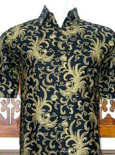 Kemeja kerjs batik katun motif burung phoniex . Batik solo 80000 idr