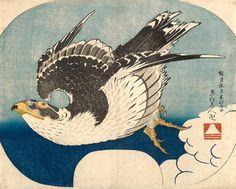 Bonhams Fine Art Auctioneers & Valuers: auctioneers of art, pictures, collectables and motor cars Japanese Animals, Japanese Bird, Japanese Prints, Hokusai Artwork, Katsushika Hokusai, Korean Art, Bird Illustration, Japanese Painting, Traditional Paintings