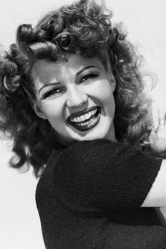 """theritahaywortharchive:  """"""""Rita Hayworth in a publicity photo for Cover Girl, 1944  """" """""""