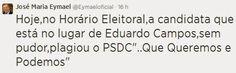 RN POLITICA EM DIA: EYMAEL ACUSA MARINA DE PLÁGIO NAS REDES SOCIAIS.