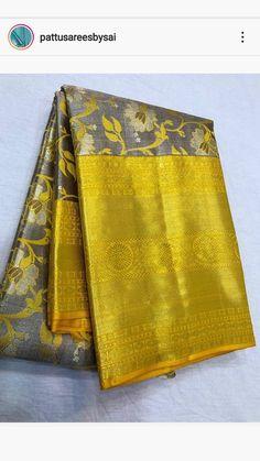 Silk Saree Kanchipuram, Silk Sarees, Pattu Saree Blouse Designs, Traditional Sarees, Saree Wedding, Fashion Looks, Colours, Designer Sarees, Womens Fashion