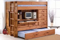 Space-saving idea for small bedrooms