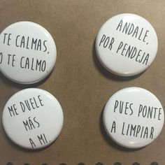 One Inch button packs! Handmade just for you. Immortalizing the words of your mami forever. Perfect to keep or as a little gift for your…