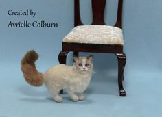 Dollhouse Miniature Ragdoll Cat OOAK Handmade Sculpted Polymer Clay Cat #ragdoll #ragdollcats #ragdolls #cats #miniatures #dollhouseminiatures #ooak #ooakcat Polymer Clay Cat, Polymer Clay Animals, Clay Cats, Dollhouse Miniatures, Sculpting, Cute, Handmade, Ebay, Sculpture