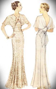 Rare Vintage 1935 McCalls 8315 Women's Evening Gown