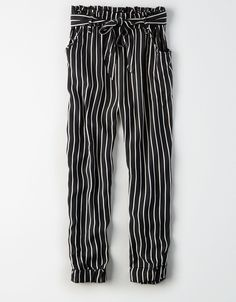 dont ask why striped paper bag pants size small