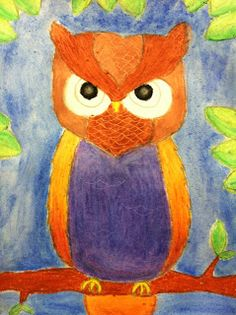 Mrs. Wille's Art Room: Oil pastel owls