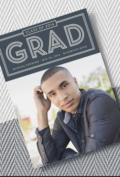 Classic, clean and perfect for the boys. Shop Tiny Prints for customizable graduation announcements in any style.