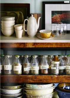 way to reuse those starbucks bottles! spices by ana