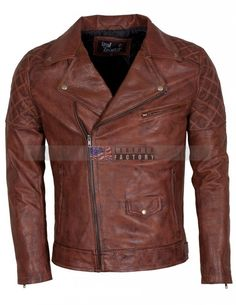 Men Brando Motorcycle Leather Jacket Sale