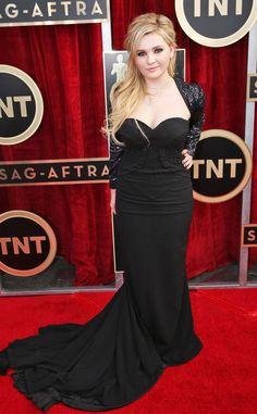 Abigail Breslin from 2014 SAG Awards: Red Carpet Arrivals | E! Online