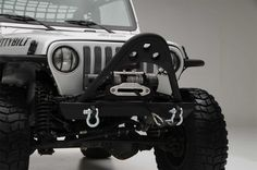 SRC Front Stinger with D-ring Mounts in Textured Matte Black  - Fits 1987 to 2006 Wrangler, Rubicon and Unlimited  - BOLD4WD