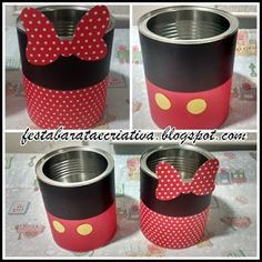 Risultati immagini per frascos decorados minnie mouse Mickey Mouse Crafts, Fiesta Mickey Mouse, Mickey Mouse Parties, Mickey Party, Mickey Minnie Mouse, Elmo Party, Dinosaur Party, Dinosaur Birthday, Pirate Party