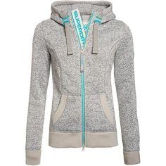 Superdry Storm Zip Hoodie ($100) ❤ liked on Polyvore featuring tops, hoodies, grey, women, zip hoodies, superdry hoodie, lined hoodie, zip hooded sweatshirt and hooded pullover