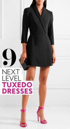 94f9c020637 9 Tuxedo Dresses to Take Your Wardrobe to the Next Level
