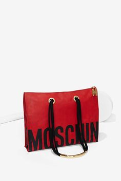 Vintage Moschino Red Tote