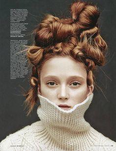 Vogue Russia Editorial September 2014 - Harleth Kuusik, Sophie Touchet by Jason Kibbler - Sister by Sibling Vogue Russia, Crazy Hair, Big Hair, Make Up Gesicht, Avant Garde Hair, Hair Arrange, Editorial Hair, Fantasy Hair, Fantasy Makeup