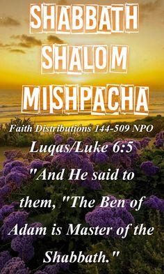Shabbath Shalom! All praise to Abba YAHWEH