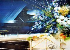 Мелодия для любимой. Raymond Poulet Galerie D'art, Sculpture, Table Decorations, Painting, Home Decor, Oil, Tourism, Art, Beautiful Paintings