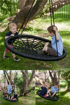 An upgrade from the old tire swing!  Maybe hung in a porch if I don't have a tree??