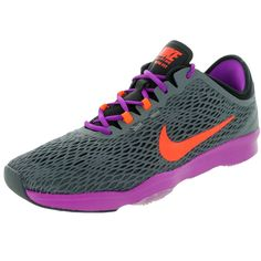 online store cc21b d8d2f Nike Women s Zoom Fit Dark   Orange Vvd Purple Training Shoe Naisten Nike,  Nike
