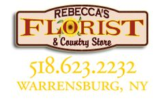 Rebecca's Florist and Country Store -Made in the US products- -Hand made/ local artist crafts- *Custom wedding, prom, and holiday bouquets and flower arrangements* Main Street, Warrensburg, NY