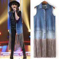 Cheap fashion women jean vest, Buy Quality women jean vest directly from China fashion jean vest Suppliers: Plus Size Double Breasted Zipper Pocket Back Waist Women's Denim Vest Sleeveless Coat Female Ladies Vests Slim Denim Wai
