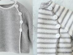 Layette Brassière douceur - Knitting And Crocheting Baby Knitting Patterns, Knitting For Kids, Knitting Designs, Baby Patterns, Knitting Ideas, Baby Boy Sweater, Knit Baby Sweaters, Boys Sweaters, Baby Cardigan