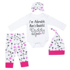2018 New Brand Cotton Print Newborn Baby Girl Outfits Floral Set Pullover Shirt Bodysuit Pants Leggings 0-24 M Lustrous Girls' Baby Clothing Clothing Sets