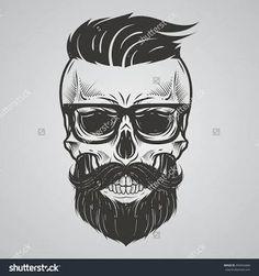 ผลการค้นหารูปภาพสำหรับ tattoo caveira com barba